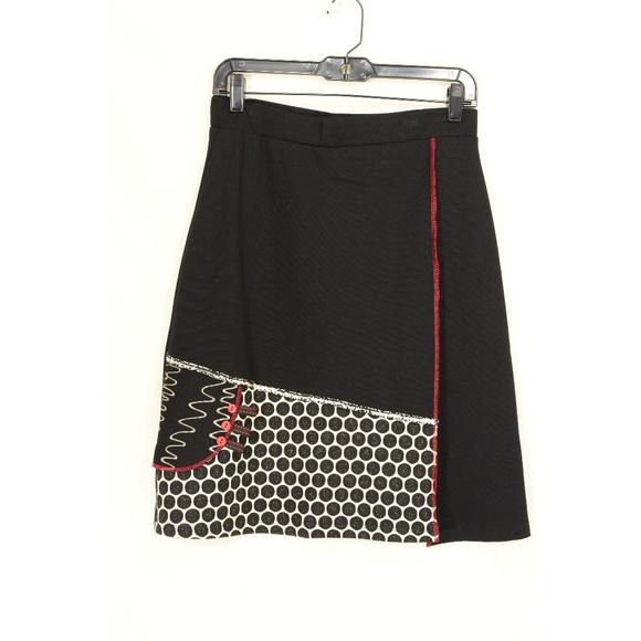 ZOE Dresses & Skirts - Zoe Michael Phillips skirt NWT black white red A-l